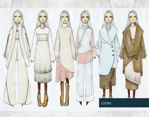Initial Illustration of all Looks