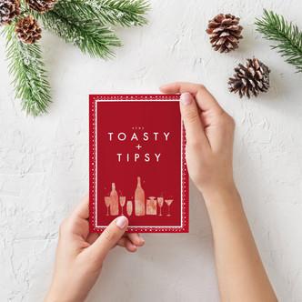 Stay Toasty + Tipsy Holiday Card