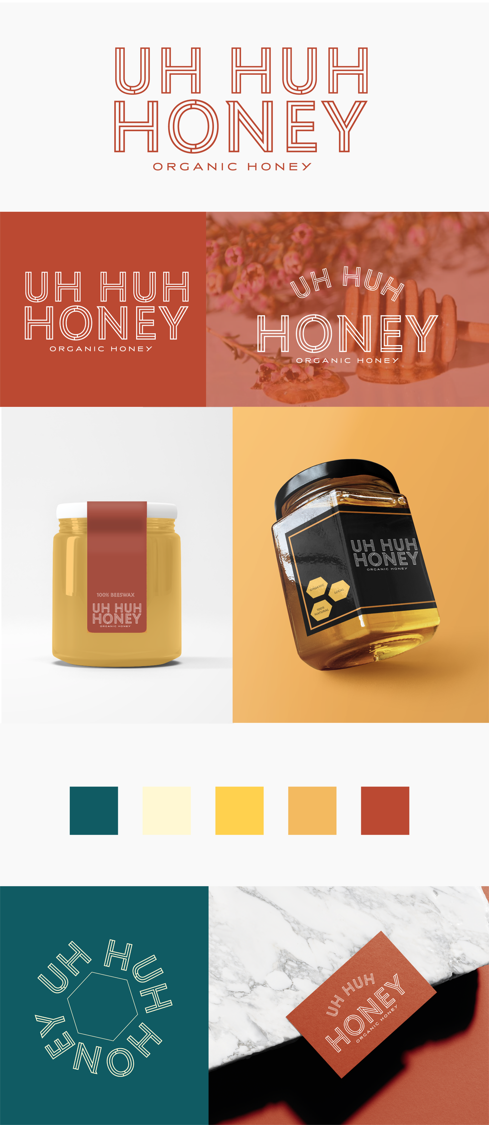 UH HUH HONEY Logo & Packaging Design