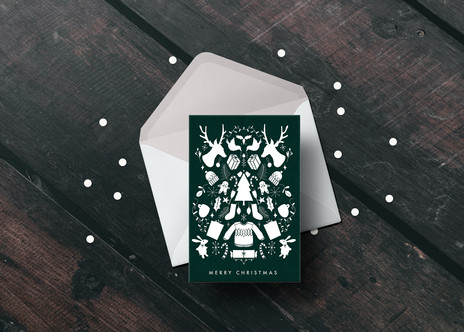 Merry Christmas Symmetrical Card