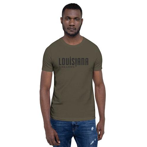 Louisiana Firearms Military Green Logo Tee