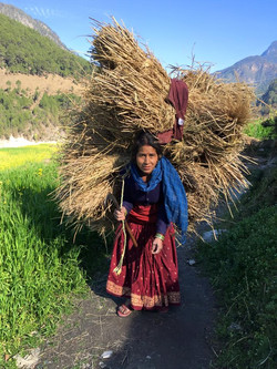 Graceful Village Woman