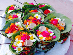 Flower Offerings to Ganges