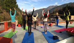 Yoga class with the Sunrise