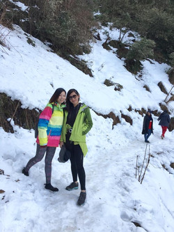 Enjoying Snow Hike