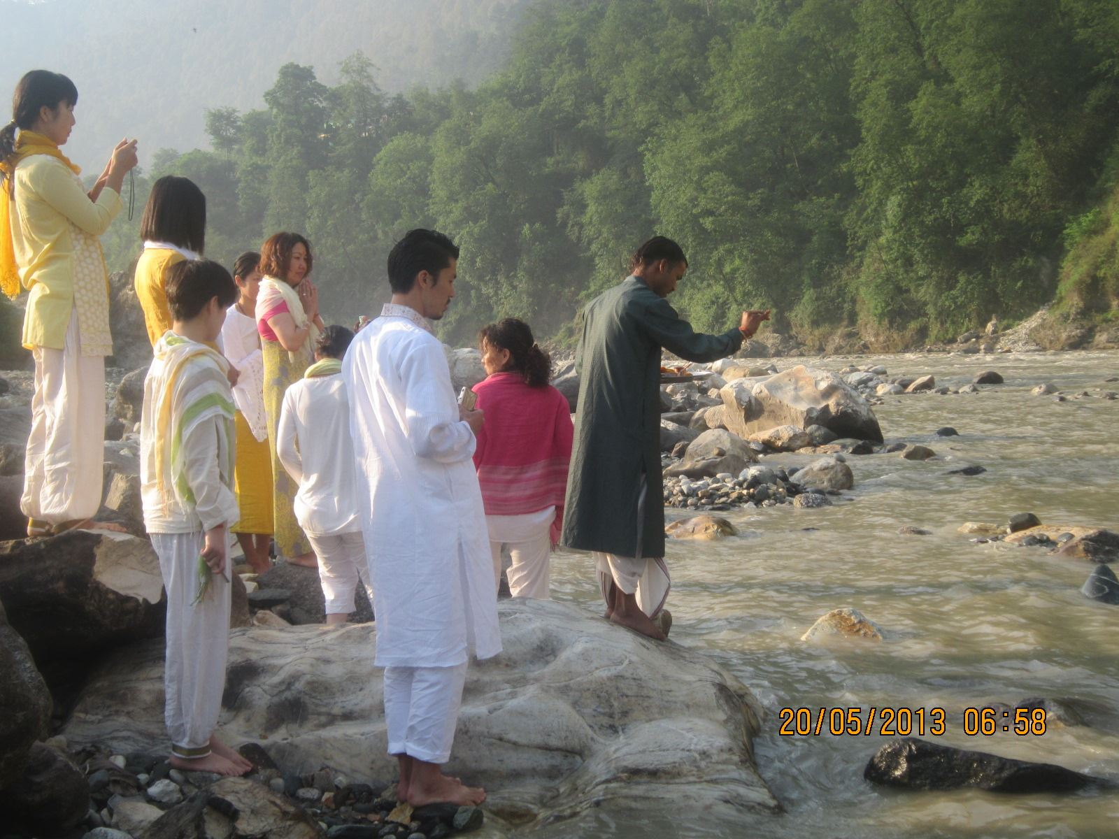 Paying tributes to Mother Ganges