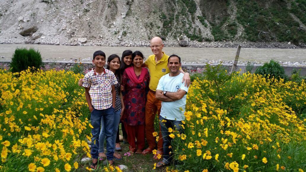 Front yard in front of River Ganges