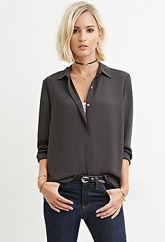 08198da77 Blouses and tops: They tend to have a variety of colours and styles, no  matter what the season is. For example, the grey collared woven blouse is  $27 and ...