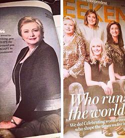 Frances Fitzgerald Sonia Pena Irish Independent Weekend Magazine