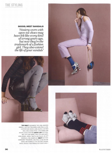 Falke Tights Elle Magazine Oct '16