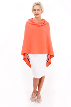 Louise Rawlins Hooded Cape in Peachy