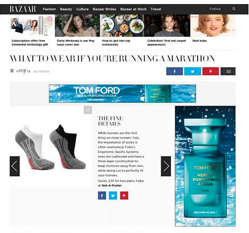 Falke Socks Harpers Bazaar Online 6.4.16