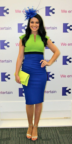 Diva Nadia Colourblock Jasmine Green Cobalt Blue IreAM 29 July