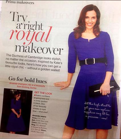 Diva Brenchley Dress Prima Magazine February 2016