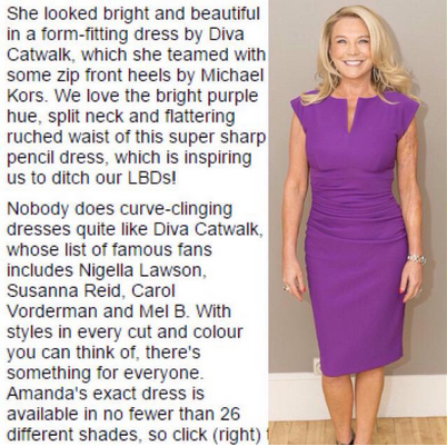 Diva Lydia Sleeveless Violet Purple Daily Mail 27.08.15