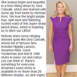 Diva Lydia Sleeveless Violet Purple Daily Mail 27.08.15