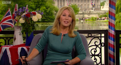 Diva Ezra Dress Kirsty Young The Queen's 90th Birthday Celebration June 2016