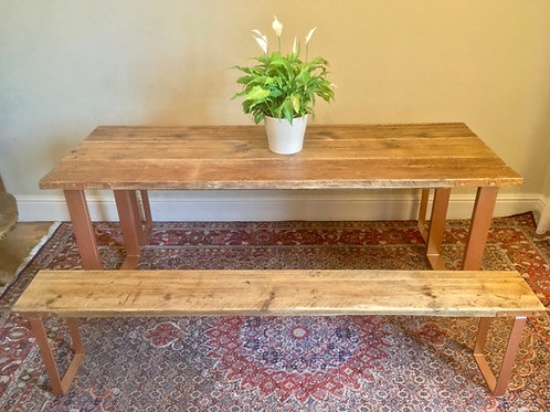 Desk and Bench Set