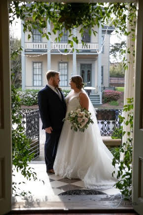 Bride and Groom front porch