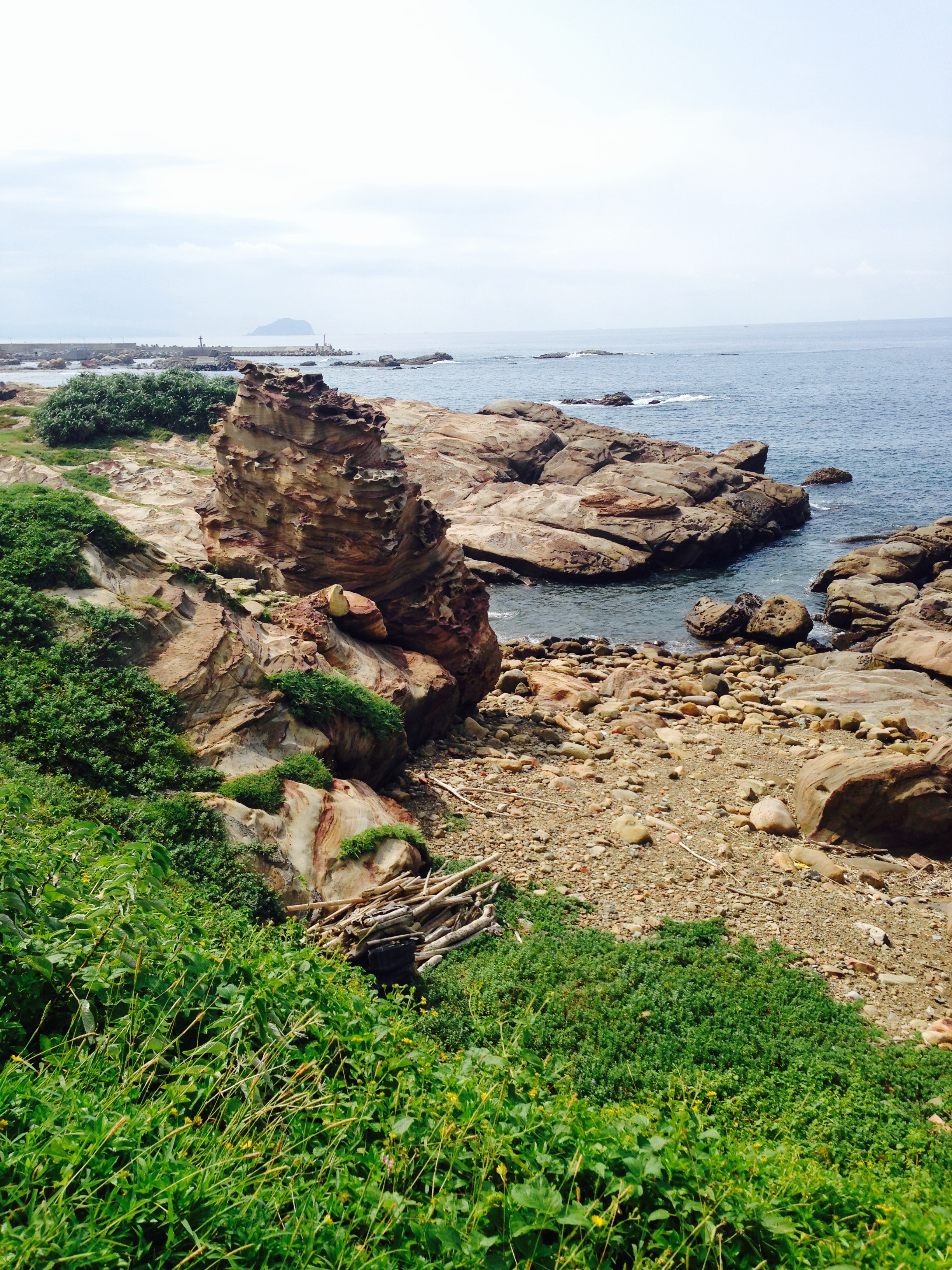 こちらも九份近くの海沿いの絶景