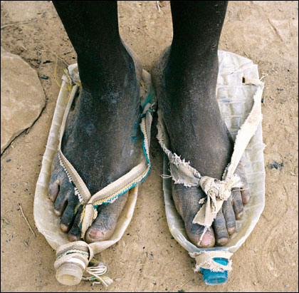 Plastic bottles = shoes