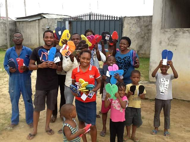 Flip flops given in Nigeria ♥