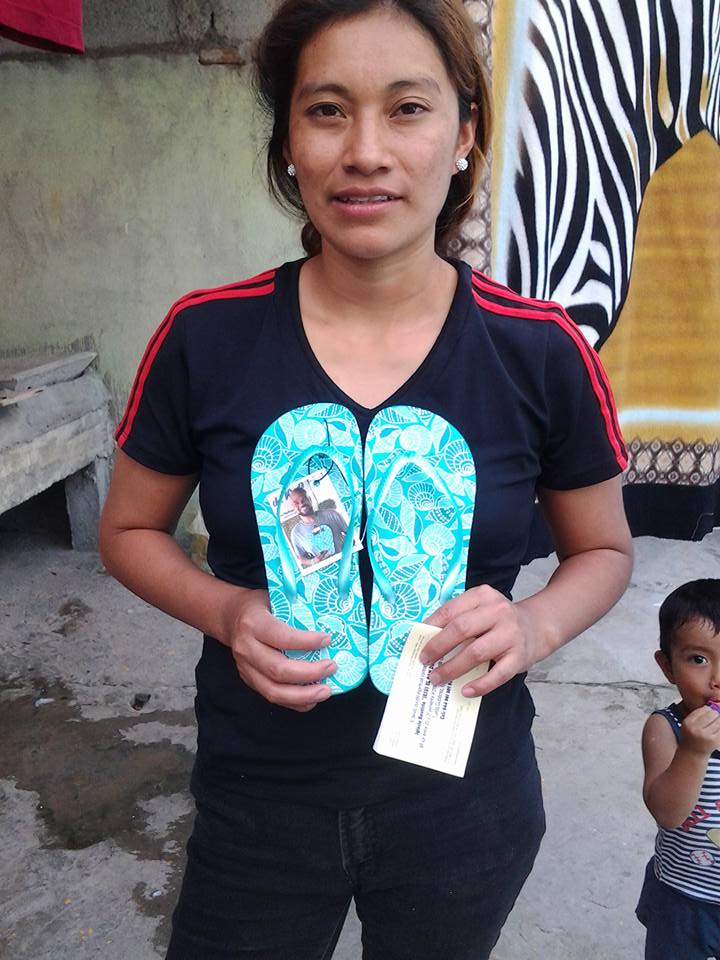 Flip flops given in Mexico ♥