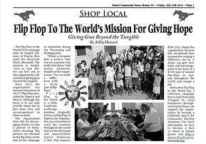 Flip Flop to the World in Manor Community News.jpg