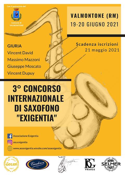 ITA 3 ° Concorso Internazionale di saxof