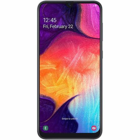 Telefon mobil Samsung Galaxy A50, Dual SIM, 128GB, 4G, Negru