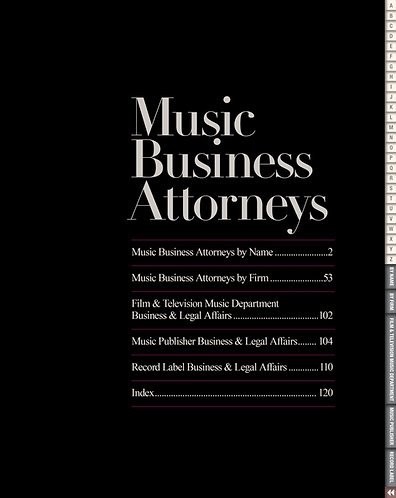 Music Business Attorneys — 1 pdf issue PDF