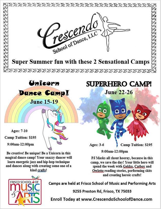 Summer Camps 2020 Crescendo School of Da