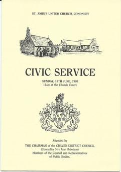 1995 Civic Service.