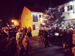Christmas outside New Inn Connleyjpg