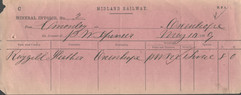 1869 Limestone being sent by rail.