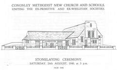 1940 New Methodist Church started.