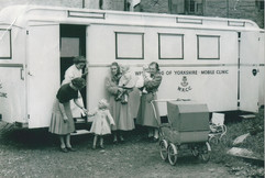 West Riding County Council Mobile Clinic near Bay House1953.