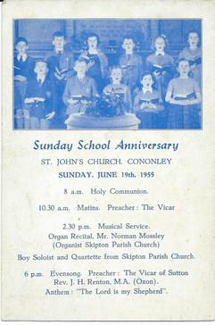 1955 St. John's Sunday School.
