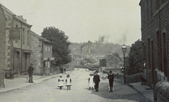 Main Street at the New Inn, early 20th c.