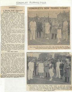 1938 Tennis Court opens.