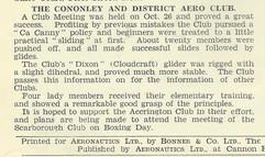 1930 Cononley Aero Club.