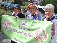 Cononley WI at Gala parade