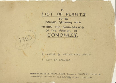 1959 A list of plants in Cononley