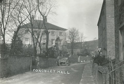 Main Street and Cononley Hall, early 20th c.