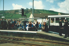 Station reopening 20th April 1988.