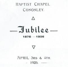 1926 Baptist Chapel Jubilee.