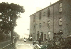 Cross Hills Road with the Oddfellows Houses, early 20th c.