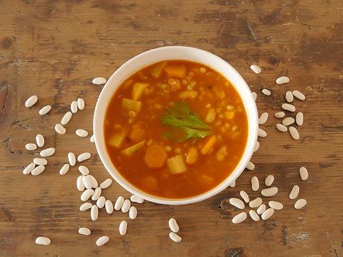מרק שעועית גריסים וירקות
