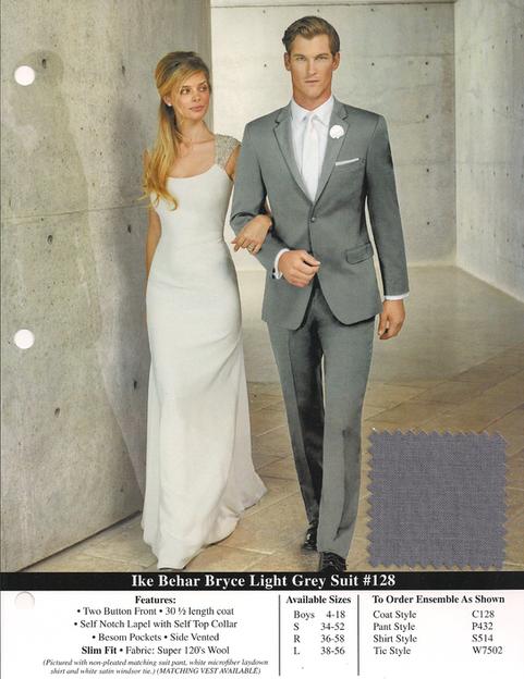 Ike Behar Bryce Light Grey Suit