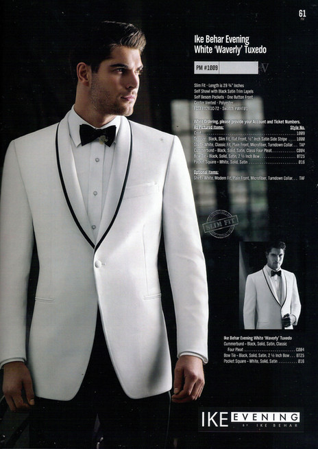 White 'Waverly' Tuxedo PM #1009